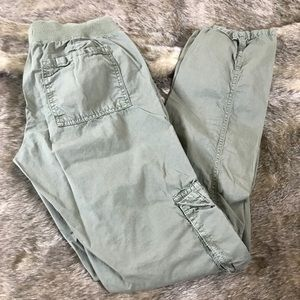GAP Hadley Green Knit Waist Drawstring Cargo Pants